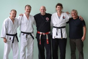 Günter, Gabi, Norbert und Ralf mit Sebastien Damhaut aus Belgien